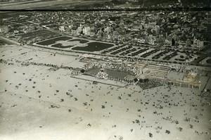 France Le Touquet Paris Plage aerial view Seawater Pool Old Photo Pecceu 1930's