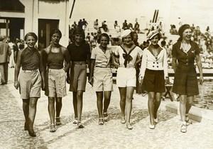France Le Touquet Paris Plage Beach Dress Fashion Contest Old Photo 1930's