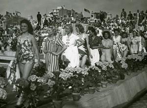 France Le Touquet Swimwear Contest Women Fashion Old Photo Pecceu 1938