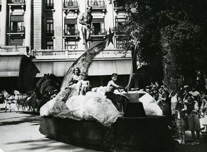 France Le Touquet Mythological Parade Float Mercury Old Photo Pecceu 1938