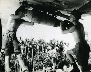 WWII Royal Air Force Vultee Vengeance Dive Bomber Squadron Burma Old Photo 1943