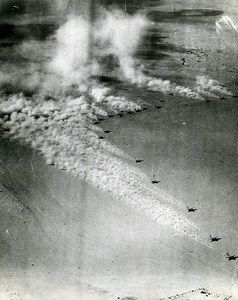WWII RAF Boston Bombers raise the dust Desert Africa Old Photo 1943