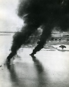 WWII Burma RAF Beaufighters Bombardment near Pakokku Old Photo 1944