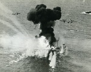 WWII Norway RAF Beaufighters Attack German Tanker Skagerrak Old Photo 1944