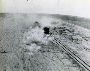 WWII Egypt Middle East Aerial attacks on Train near Sidi Barrani Old Photo 1943