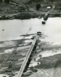 WWII Royal Air Forces Burma Bombardment Bridge at Ye-U Old Photo 1945