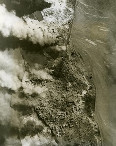 WWII Germany RAF Bomber Command Heligoland Bombardment Old Photo 18 April 1945
