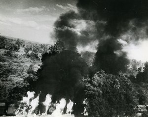 WWII Burma RAF Beaufighters Kokkogon Train Attack Rangoon Mandalay Photo 1945