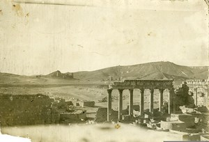 Syria French Military Mandate Palmyra Castle of the Queen Ruins Old Photo 1928