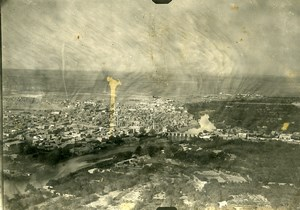 Syria French Military Mandate Deir ezZor Aerial View Old Photo 1928