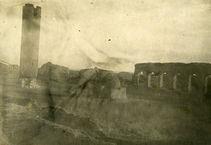 Syria French Military Mandate Al-Raqqah Leaning Tower Roman Ruins Old Photo 1928