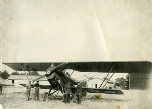 France Parçay-Meslay Airfield Potez 25 Grand Raid Airplane Old Photo 1928