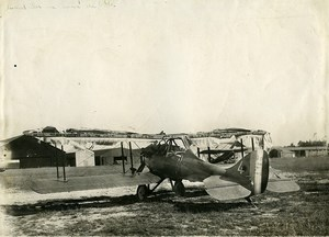 France Parçay-Meslay Airfield Nieuport Delage NiD.29 torn canvas Old Photo 1928