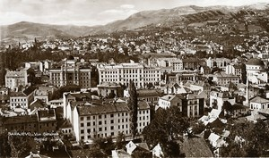 Yugoslavia Bosnia Herzegovina Sarajevo general view Old Photo Soubre 1930