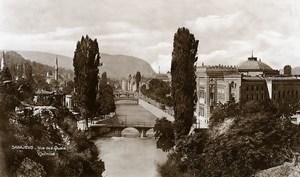 Yugoslavia Bosnia Herzegovina Sarajevo River Miljacka Old Photo Soubre 1930