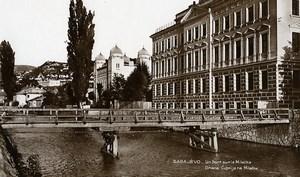 Yugoslavia Bosnia Herzegovina Sarajevo River Miljacka Bridge Photo Soubre 1930