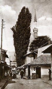 Yugoslavia Bosnia Herzegovina Sarajevo Turkish Market Minaret Photo Soubre 1930