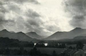 England Lake District Borrowdale Valley Clouds Old Amateur Photo 1930