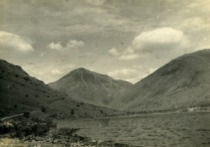 England Lake District Wasdale Wast Water Old Amateur Photo 1930