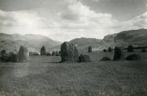 England Lake District Keswick Castlerigg Stone Circle Old Amateur Photo 1930