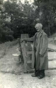 England Lake District Caldbeck Old man portrait Old Amateur Photo 1930