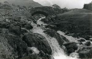 England Lake District Ashness Bridge Stone Bridge Old Amateur Photo 1930