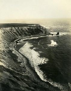 USA Californie Péninsule de Palos Verdes Bords de mer Ancienne Photo 1920's