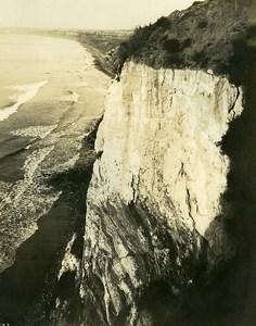 USA Californie Péninsule de Palos Verdes Bords de mer Falaises Ancienne Photo 1920's