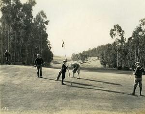 USA Californie Péninsule de Palos Verdes Joueurs de Golf Ancienne Photo 1920's