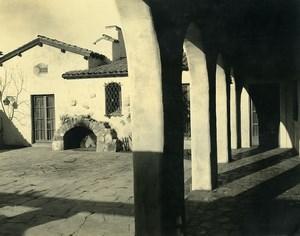 USA California Palos Verdes Peninsula House Patio Courtyard Old Photo 1920's