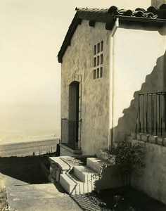 USA California Palos Verdes Peninsula House Seaside Old Photo 1920's