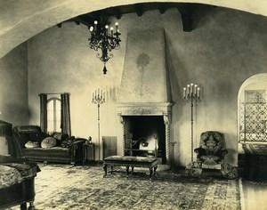 USA California Palos Verdes Peninsula House interior Fireplace Old Photo 1920's