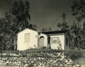 USA California Palos Verdes Peninsula House Trees Old Photo 1920's