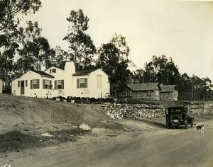 USA California Palos Verdes Peninsula Houses Automobile Dog Old Photo 1920's