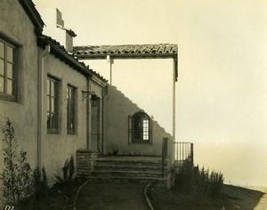 USA California Palos Verdes Peninsula Seaside House Old Photo 1920's