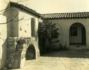 USA California Palos Verdes Peninsula House Courtyard Old Photo 1920's