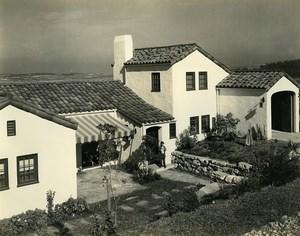 USA California Palos Verdes Peninsula House Garden Old Photo 1920's