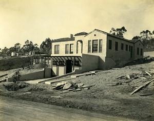 USA California Palos Verdes Peninsula House Construction Old Photo 1920's