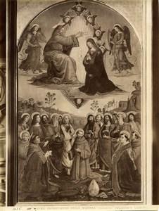 Italy Roma Vatican Pinturicchio Incoronazione della Madonna Photo Anderson 1880