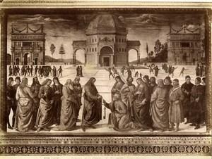 Italy Roma Vatican Perugino Podesta della chavi Old Photo Anderson 1880