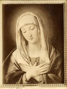 Italy Roma Galleria Colonna Sassoferrato Madonna Old Photo Anderson 1880