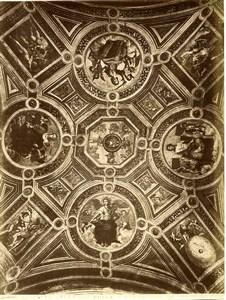 Italy Roma Sala della disputa del SS Sacramento Old Photo Anderson 1880