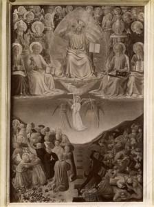 Italy Roma Giudizio del Beato Angelico Old Photo Anderson 1880
