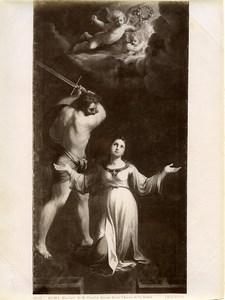 Italy Roma Guido Reni St Cecile martyrdom Chiesa della Santa Photo Anderson 1880