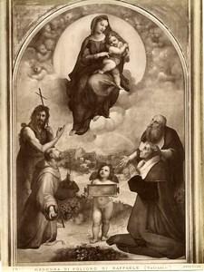 Italy Roma Vatican Raffaele Madonna di Foligno Old Photo Anderson 1880