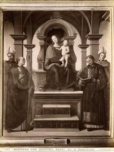 Italy Roma Vatican Perugino Pala dei Decemviri Old Photo Anderson 1880