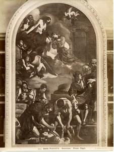 Italy Roma Vatican Pinacoteca Guercino Santa Petronilla Old Photo Anderson 1880