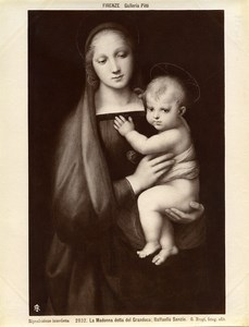 Italie Florence Palais Pitti Raphael Madonna del Granduca Ancienne Photo Brogi 1880