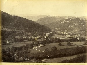 Wales Betws y Coed from Mount Garmon Old Photo Bedford circa 1870