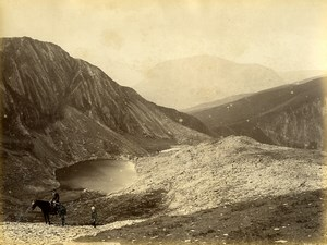 Wales Snowdon ascent from Llanberis Old Photo Bedford circa 1870